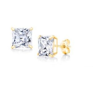14k gold Swarovski crystal earrings